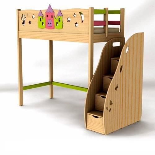 Кровати чердаки с безопасными лестницами