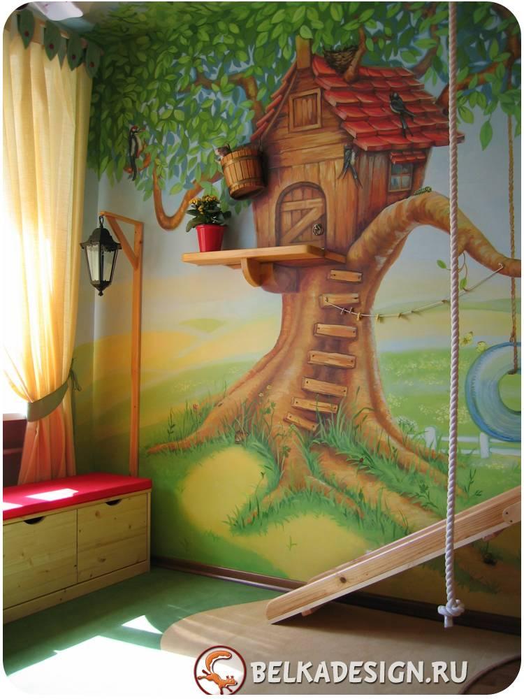 Чем рисовать на деревянных стенах