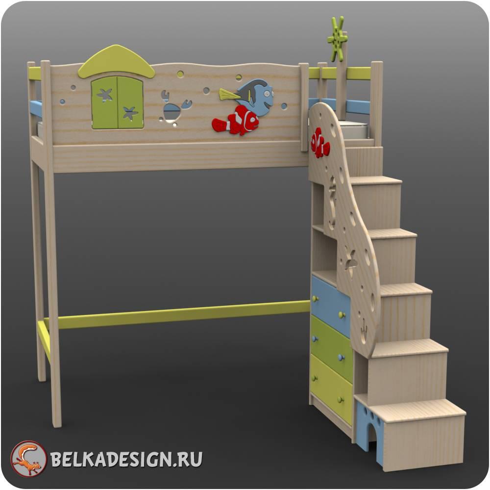 Чердак лестница стеллаж 4