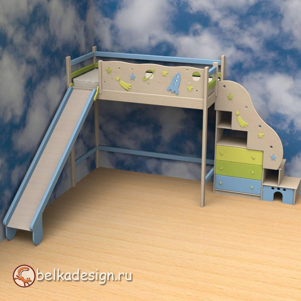 Чердак лестница стеллаж 6