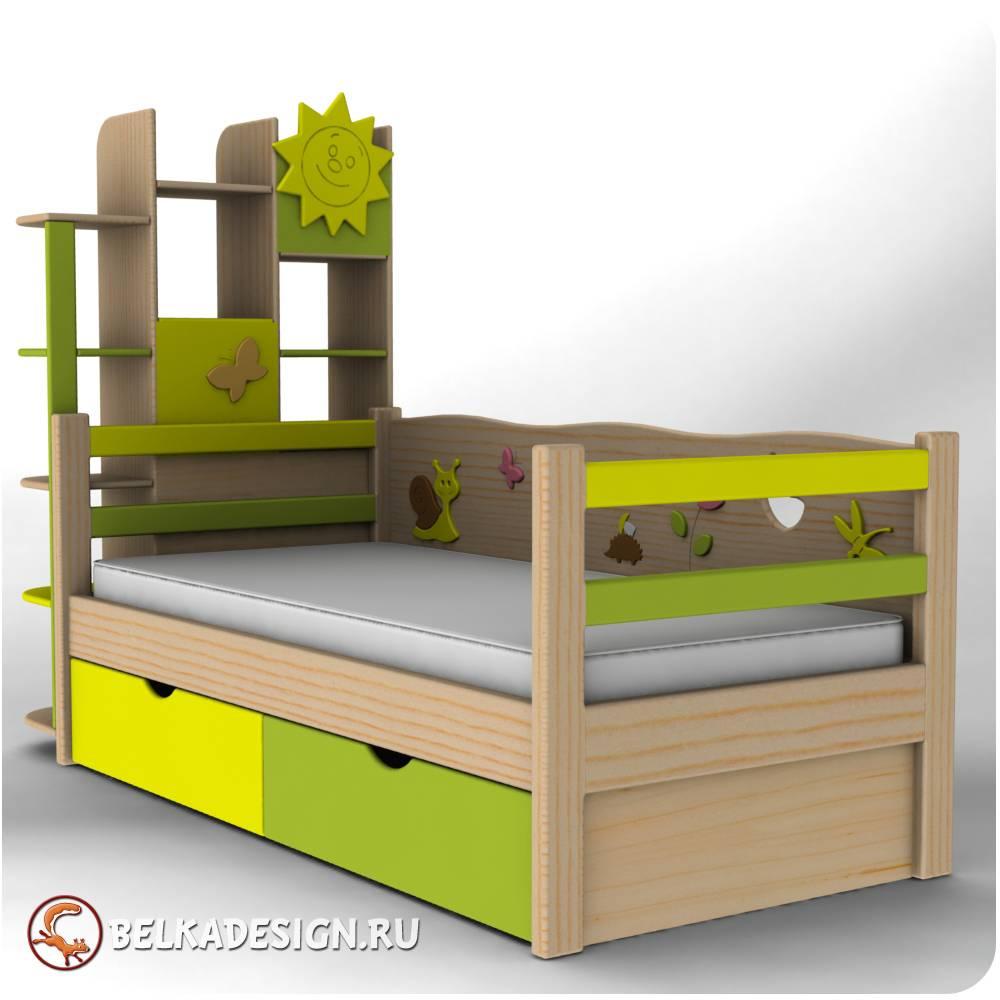 Кровать со стеллажом 1