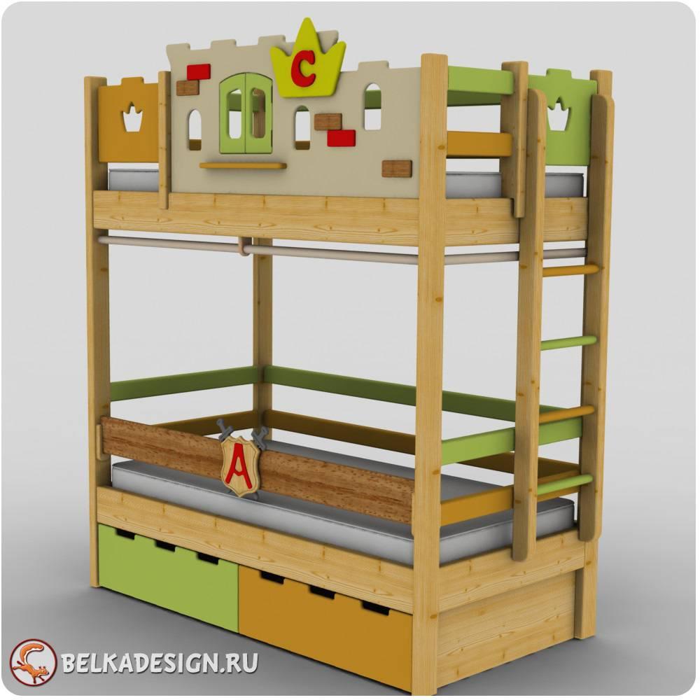 Кровать с декором 8