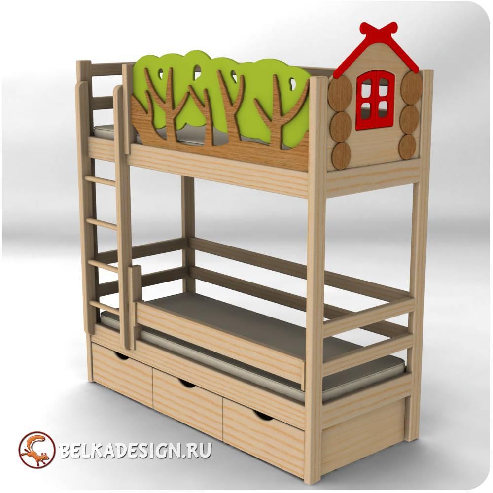 Кровать с декором 9