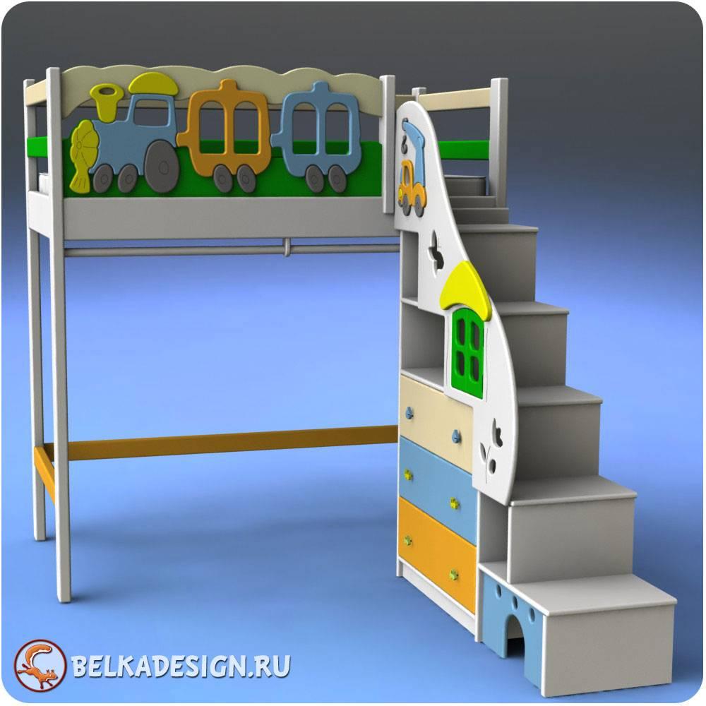 Чердак лестница стеллаж 3