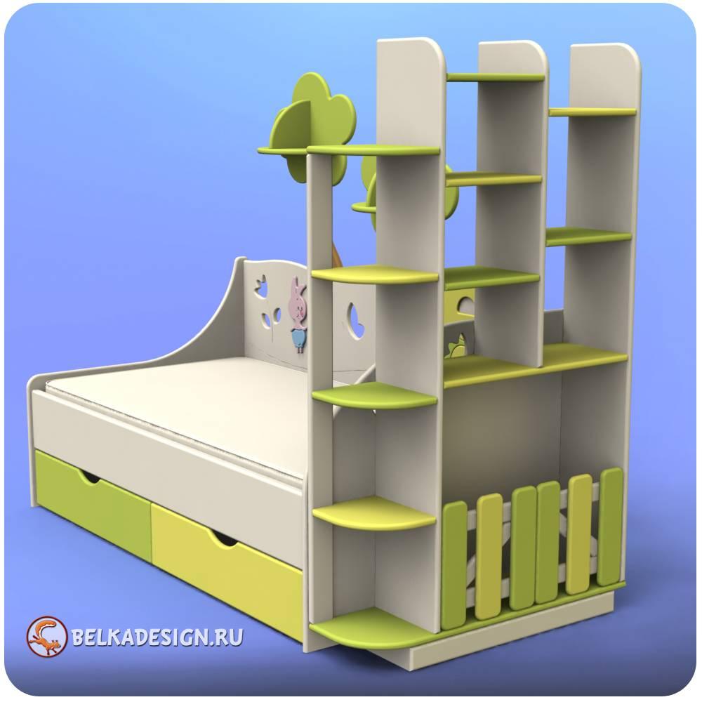 Кровать со стеллажом 4