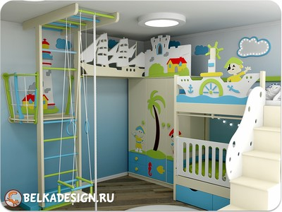 Как расставить мебель в детской комнате?
