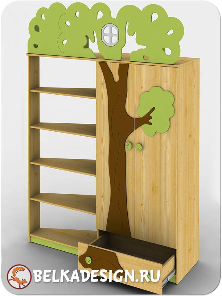 """Шкаф с деревом """"Ученый кот"""""""