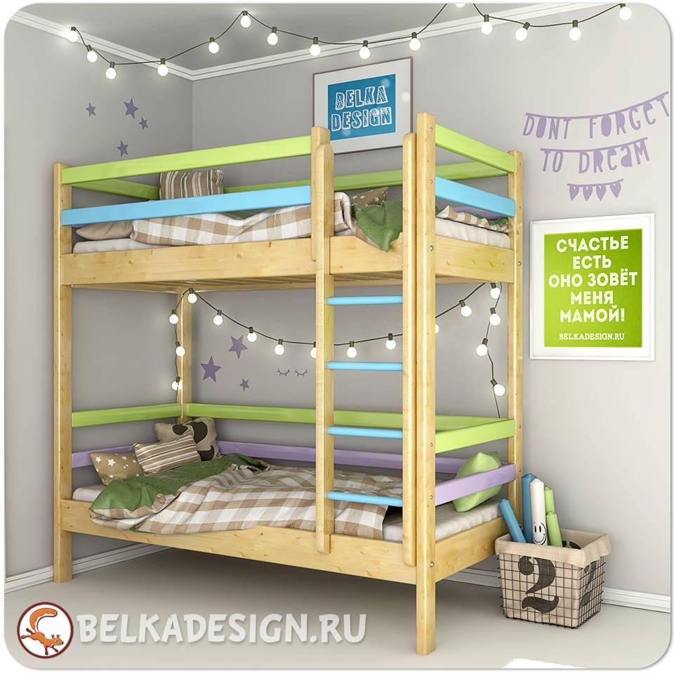 Кровать двухъярусная 0010C