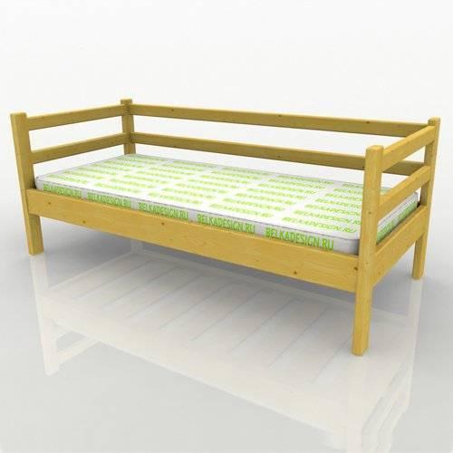 Кровать низкая без ящиков