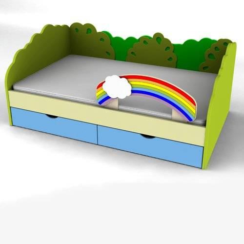 Кровать панельная