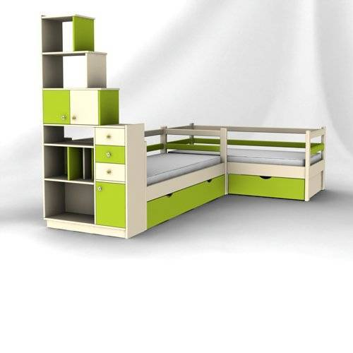 Кровати низкие с мебелью
