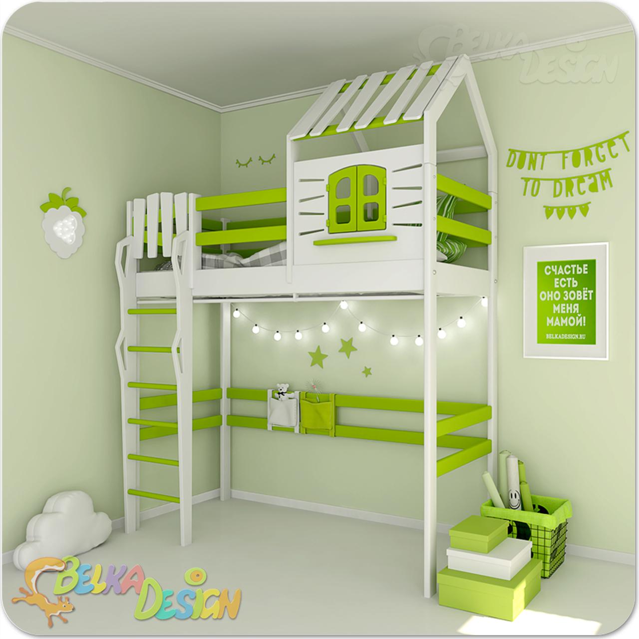 Кровать домик чердак