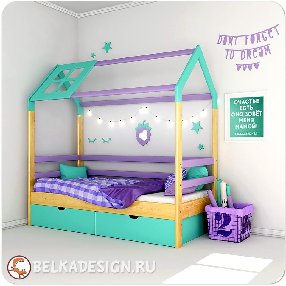 Кровать Ежевичный домик