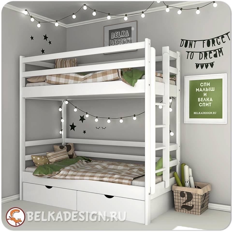 Кровать двухъярусная с ящиками 0017