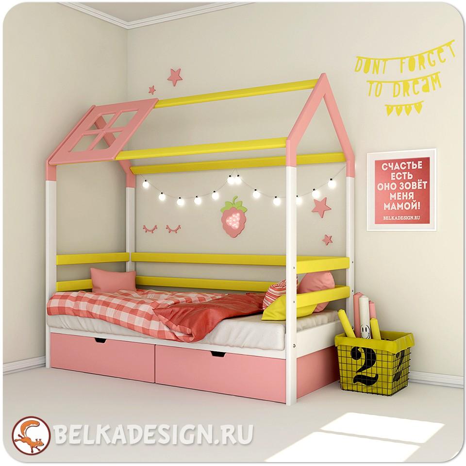 Кровать Малиновый домик