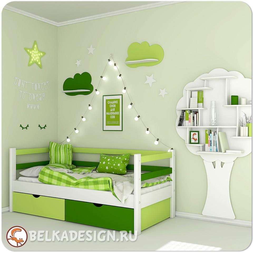 Кровать низкая с ящиками 5
