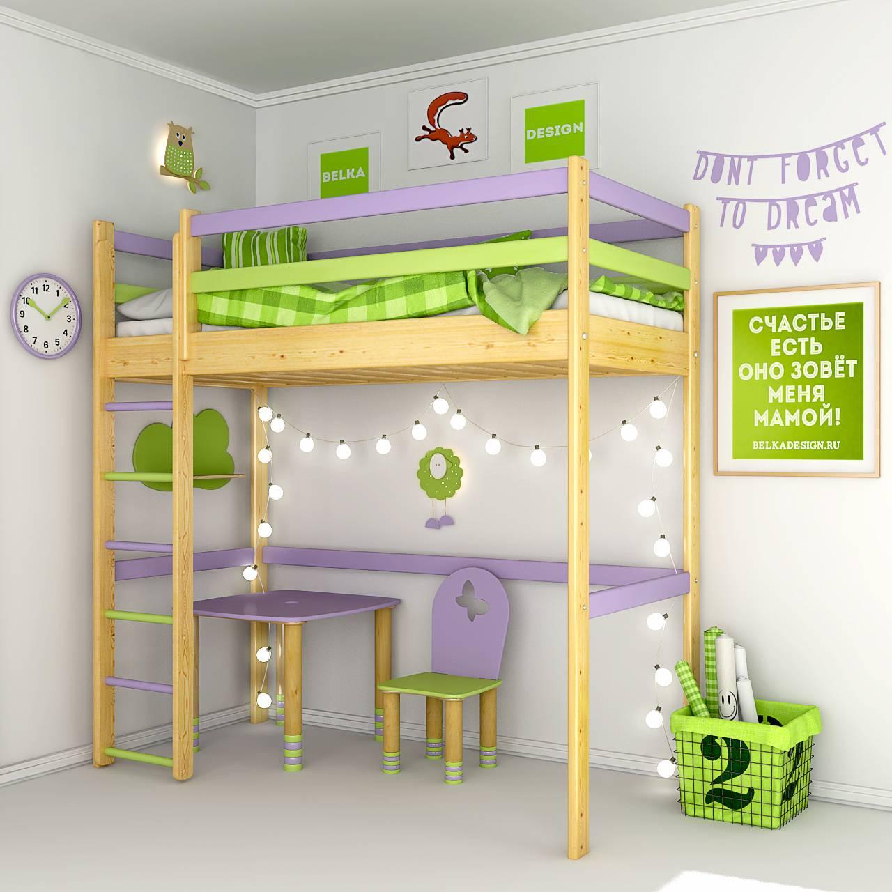 Кровать чердак 0023