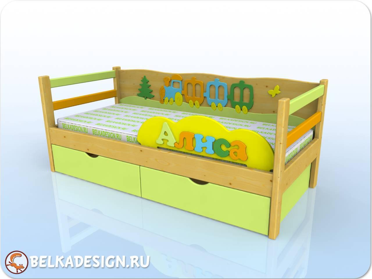 Кровать Алиса - сосна