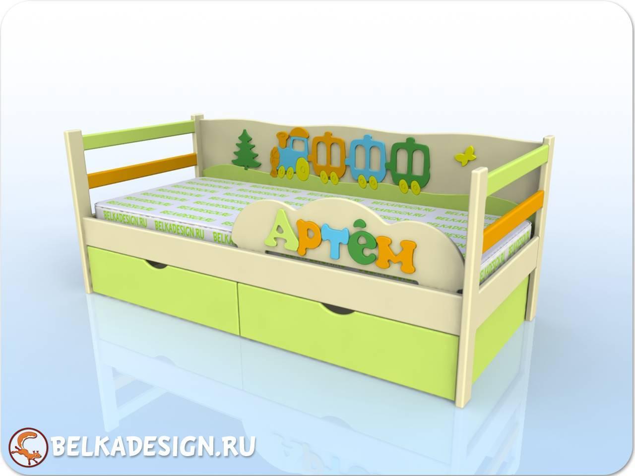 Кровать Артем - эмаль