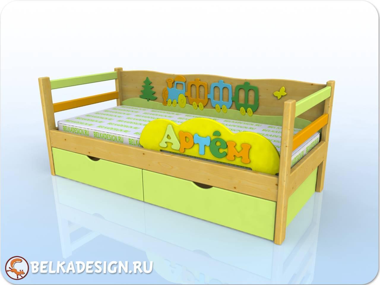 Кровать Артем - сосна