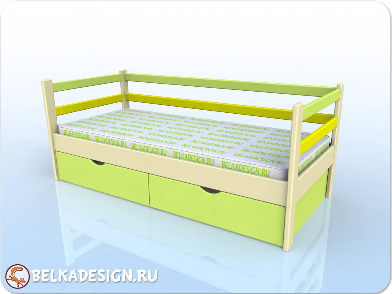 Кровать низкая с ящиками 7