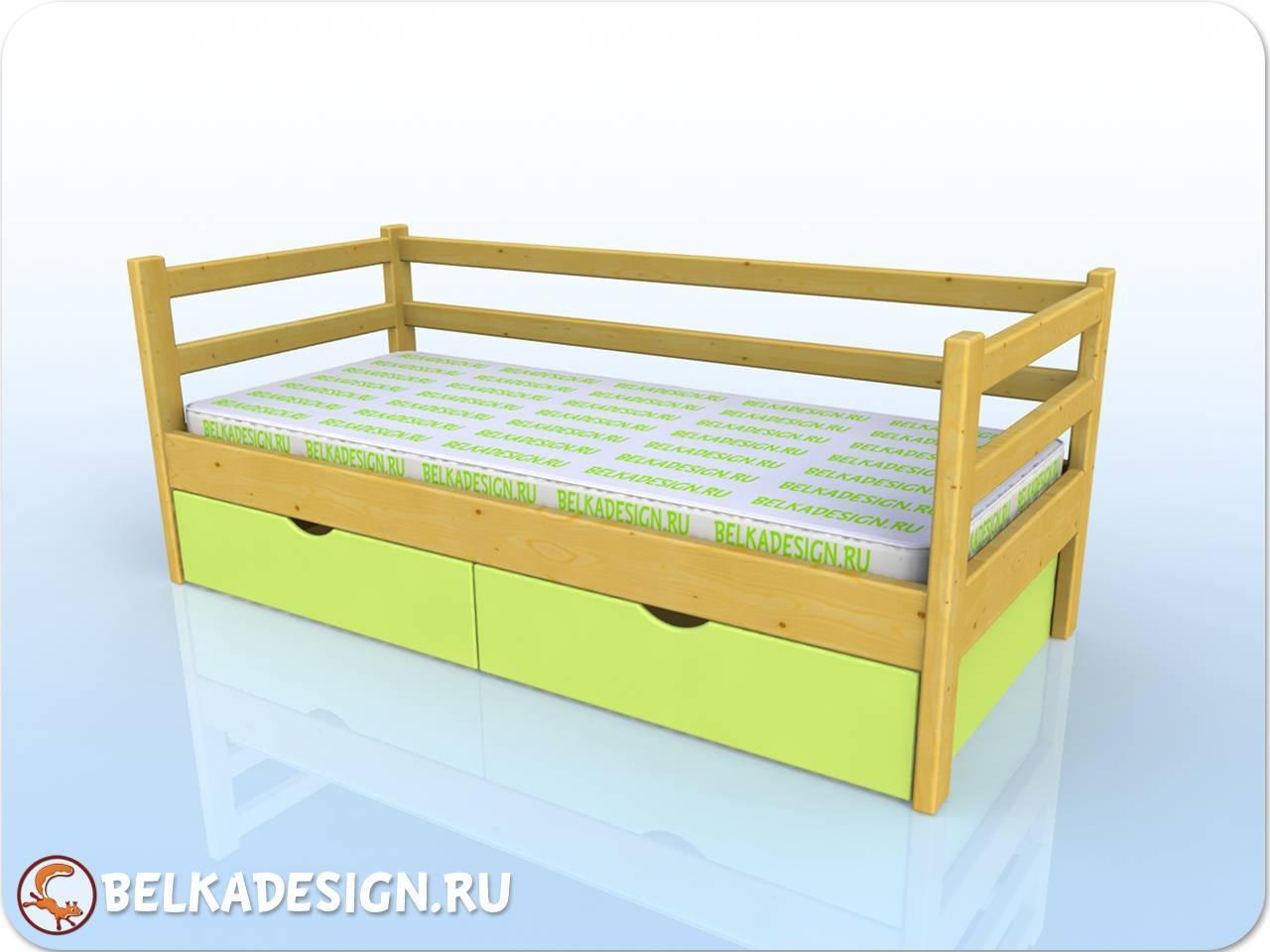 Кровать низкая с ящиками 6