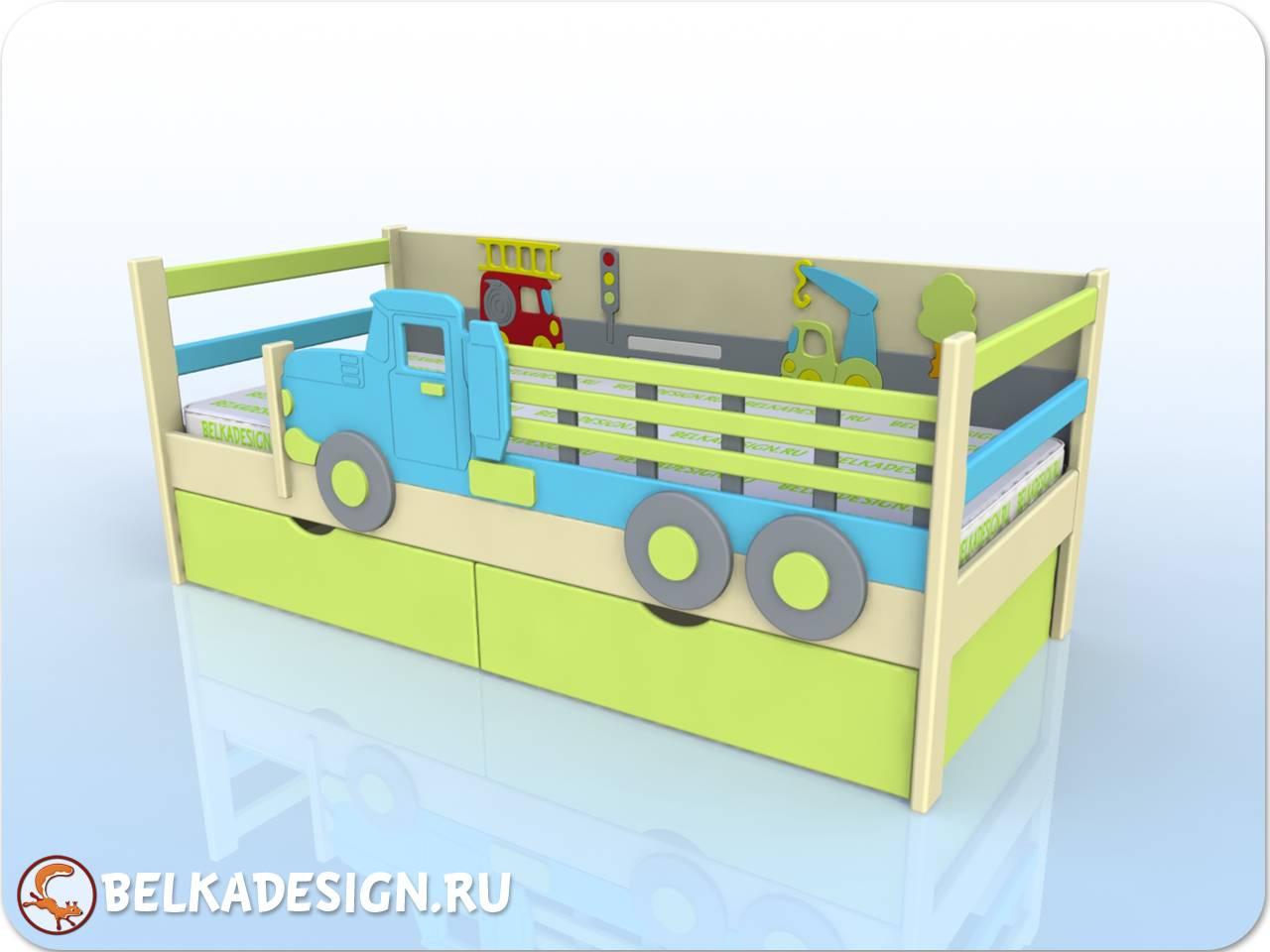Кровать Грузовик - эмаль