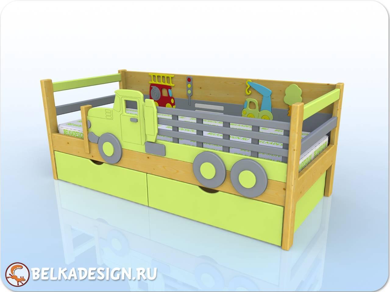 Кровать Грузовик - сосна