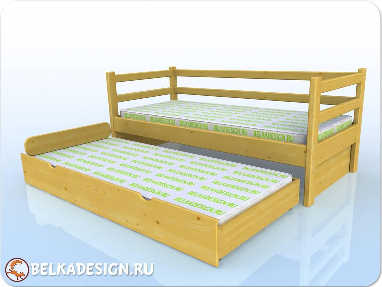 Кровать выкатная - сосна