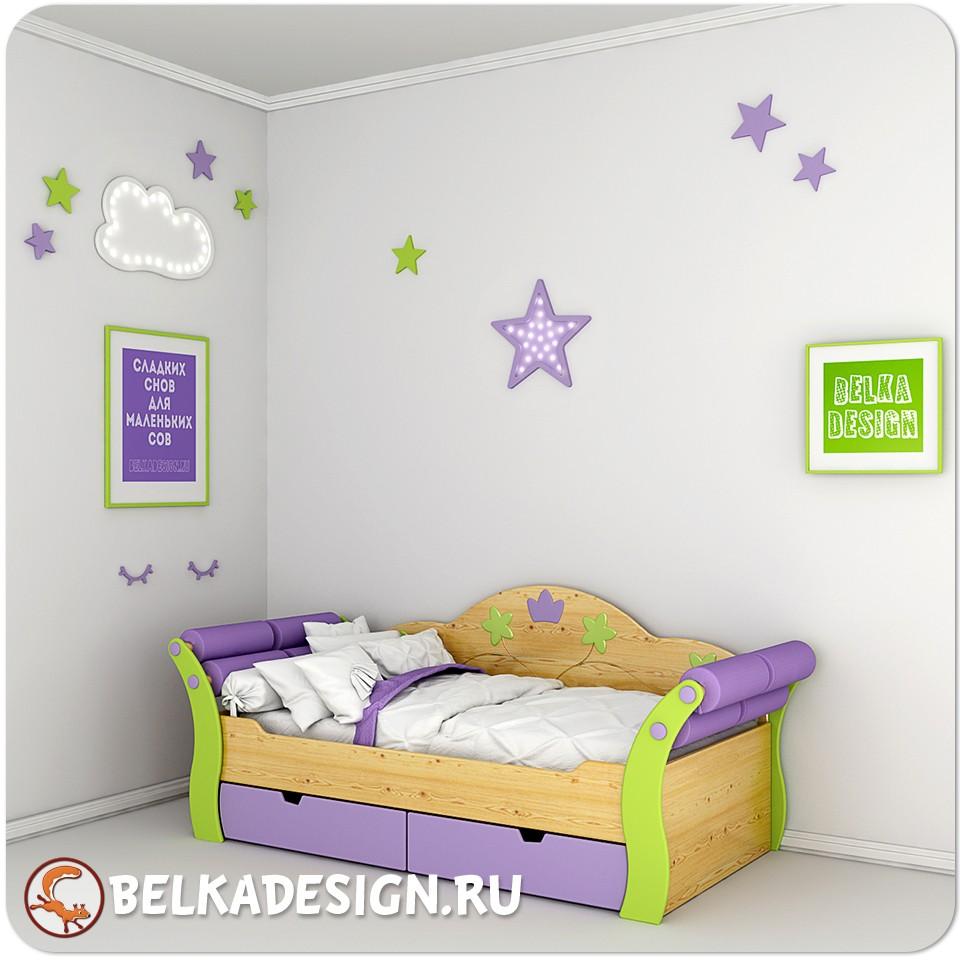 Кровать Принцесса Wood