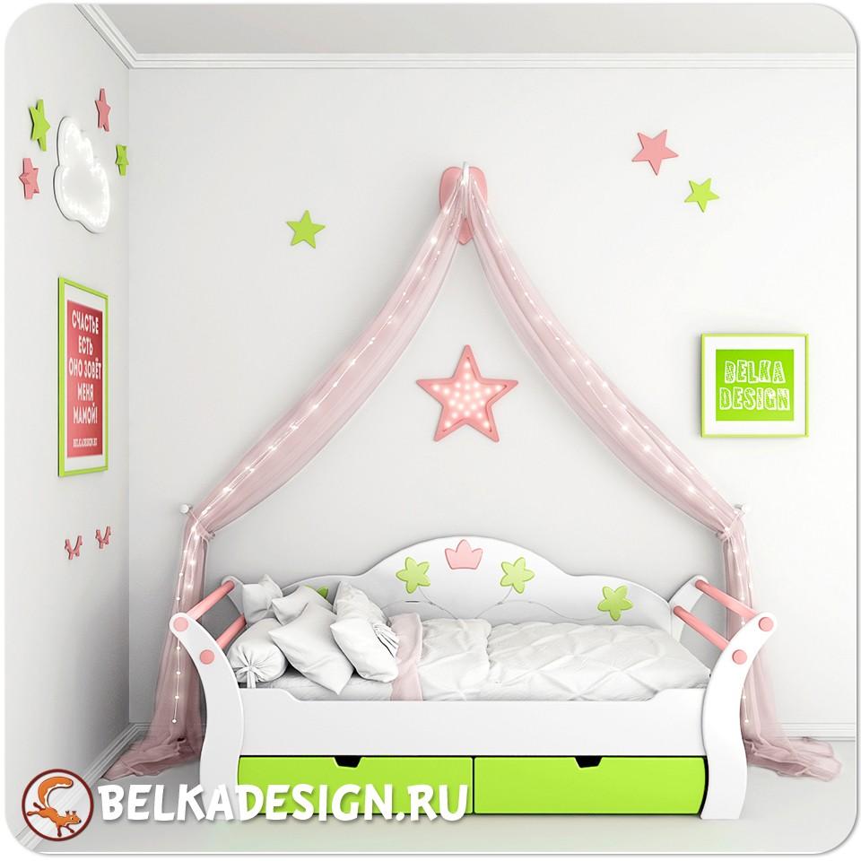 Кровать Принцесса Green